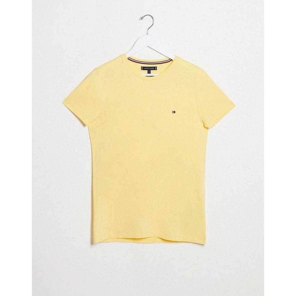 T-shirt ajusté en stretch avec logo emblématique - Tommy Hilfiger - Modalova