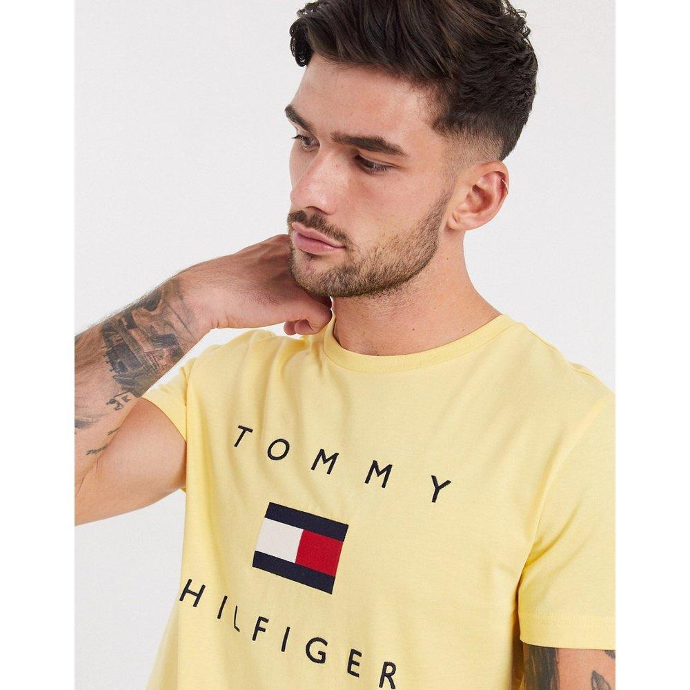 T-shirt avec logo drapeau brodé sur le devant - Tommy Hilfiger - Modalova