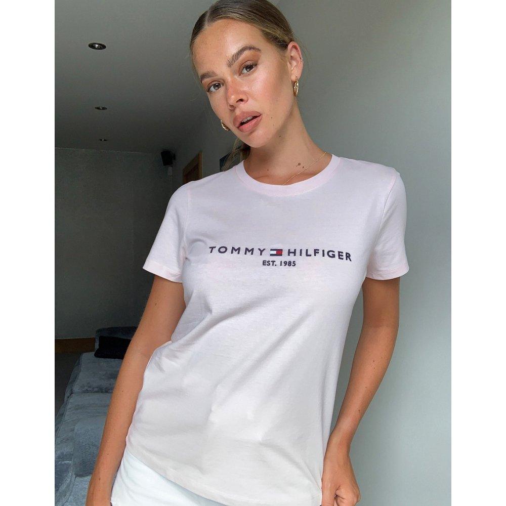 T-shirt avec logo sur le devant - Tommy Hilfiger - Modalova