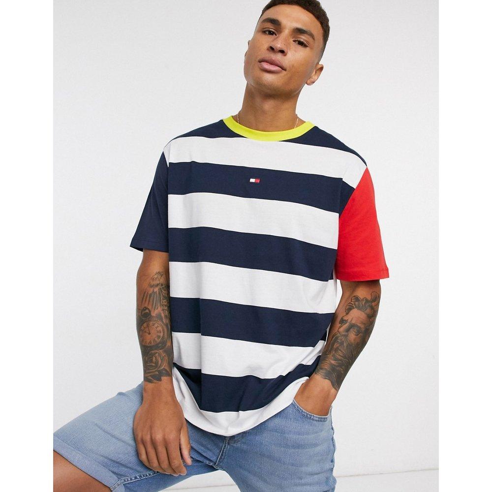T-shirt de plage à rayures - Bleu marine - Tommy Hilfiger - Modalova