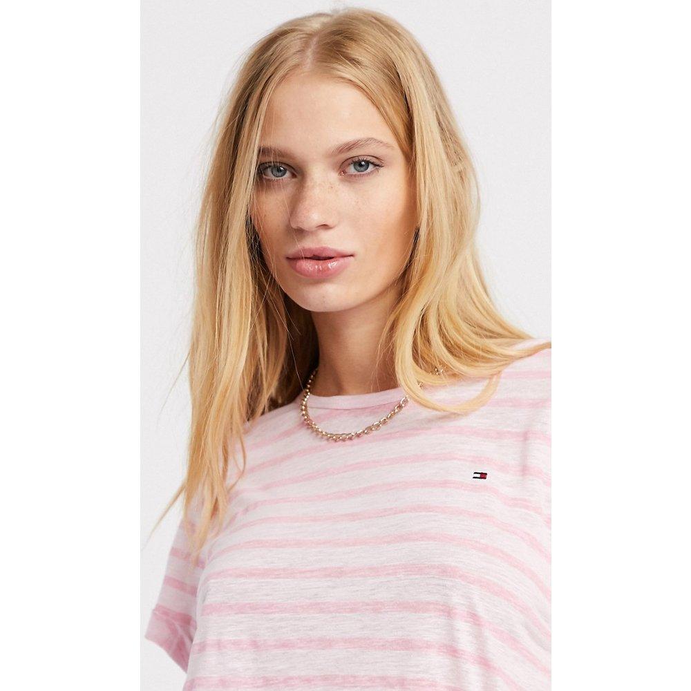- T-shirt ras de cou à rayures - Tommy Hilfiger - Modalova