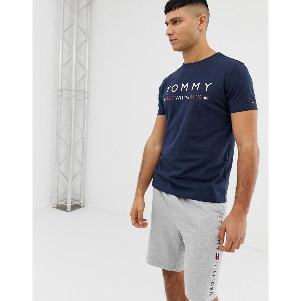 T-shirt ras de cou confort avec logo imprimé sur la poitrine - Bleu marine - Tommy Hilfiger - Modalova