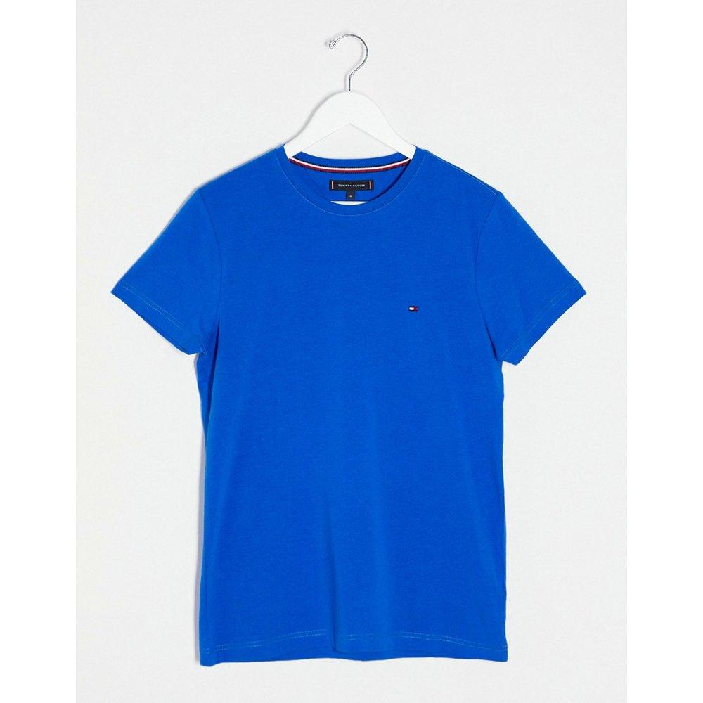 T-shirt stretch coupe slim avec logo emblématique - Tommy Hilfiger - Modalova