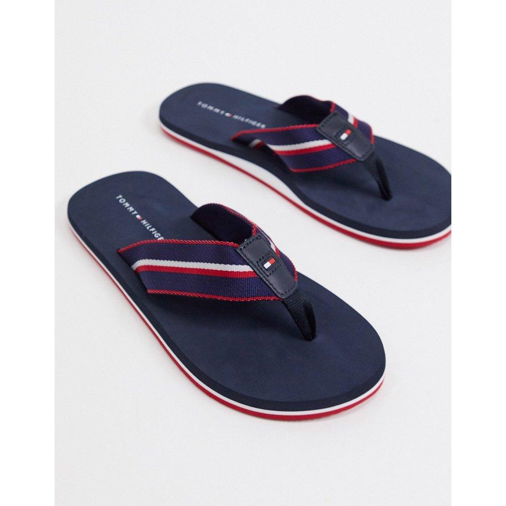 Tongs de plage à logo - Bleu marine - Tommy Hilfiger - Modalova
