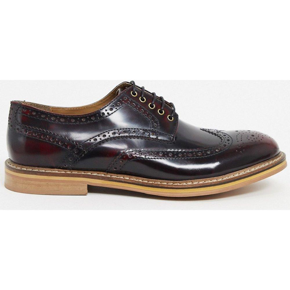 Chaussures richelieu en cuir - Rouge - Topman - Modalova