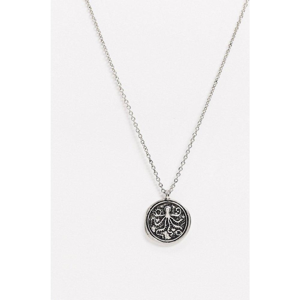 Collier chaîne à pendentif rond motif pieuvre - Topman - Modalova
