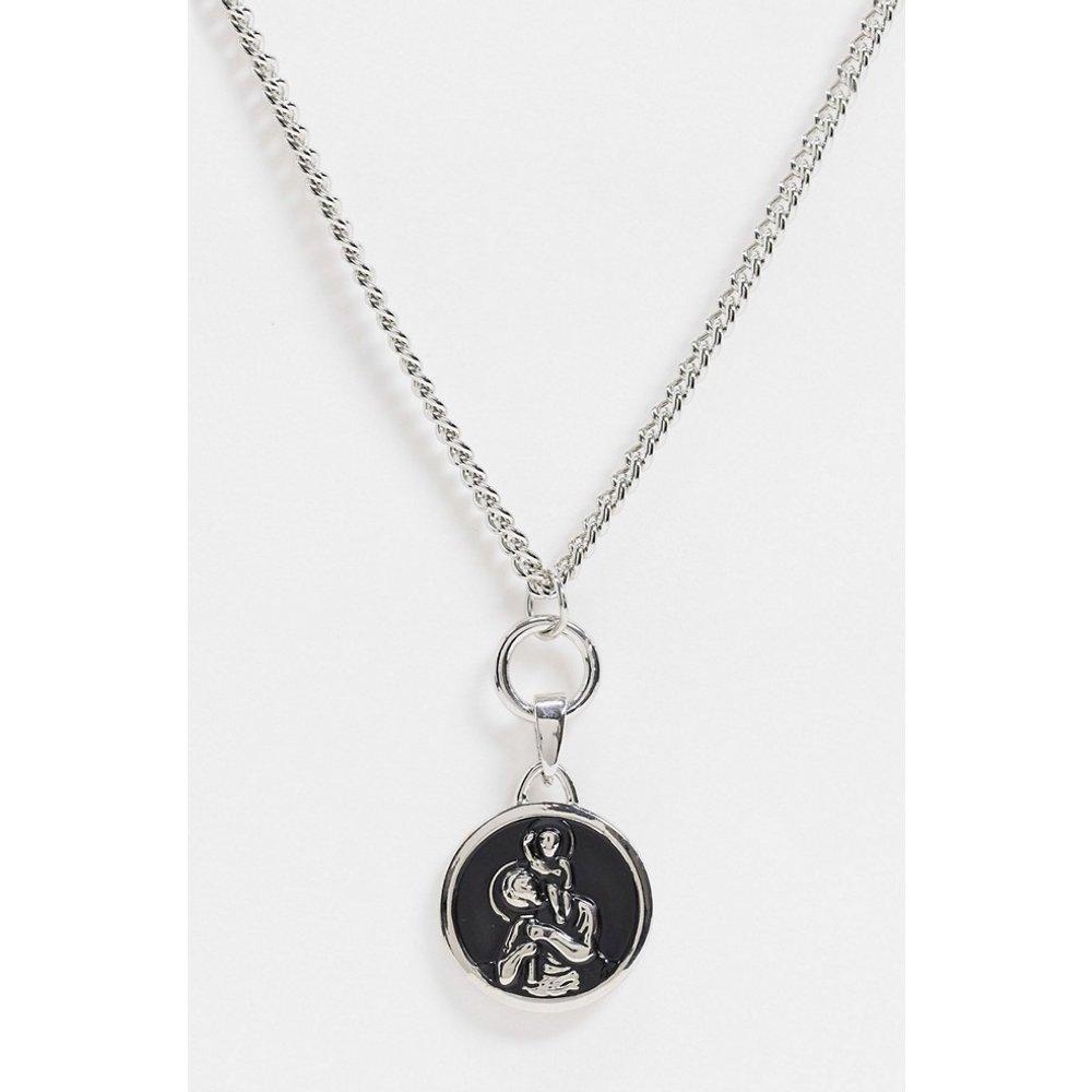 Collier chaîne avec pendentif boucle et disque - Topman - Modalova