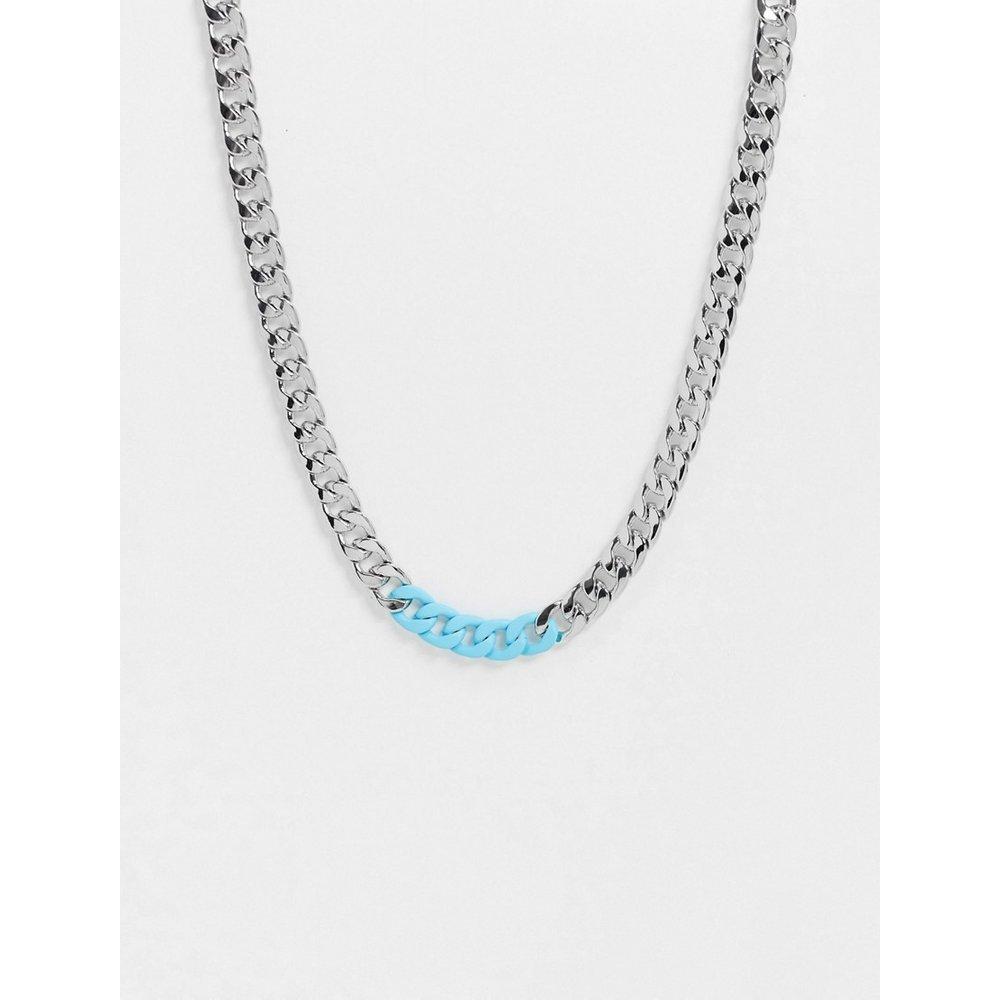 Collier chunky avec maillons bleus patels - Topman - Modalova