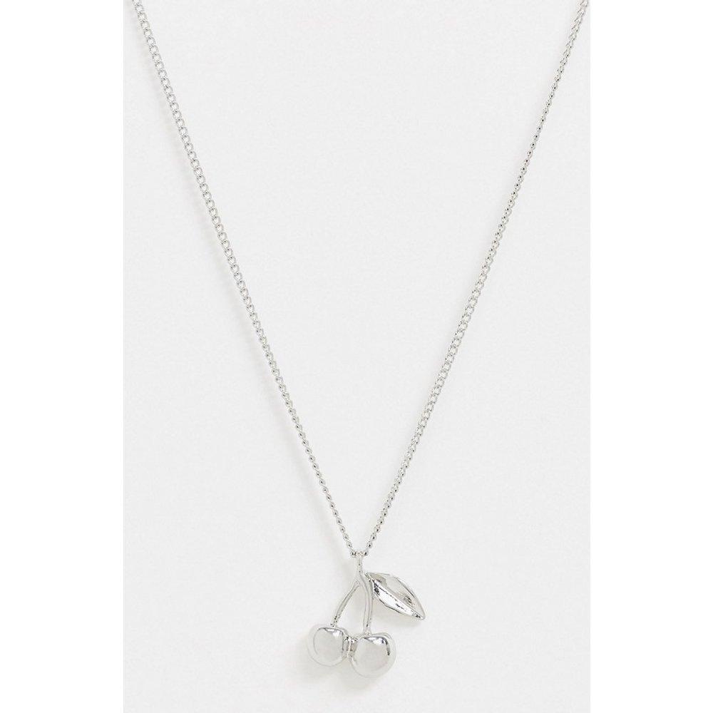 Collier en chaîne avec pendentif cerise - Topman - Modalova