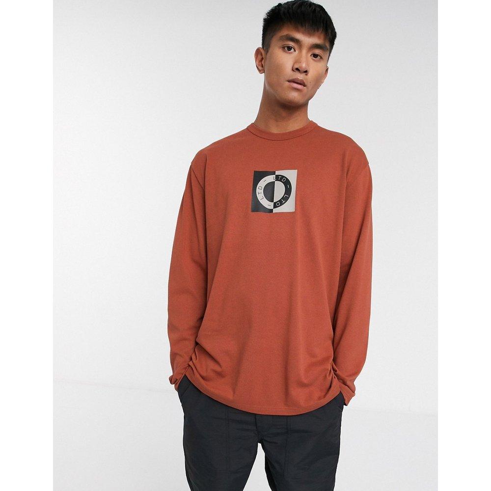 LTD - T-shirt manches longues à imprimé cercle - Rouille - Topman - Modalova