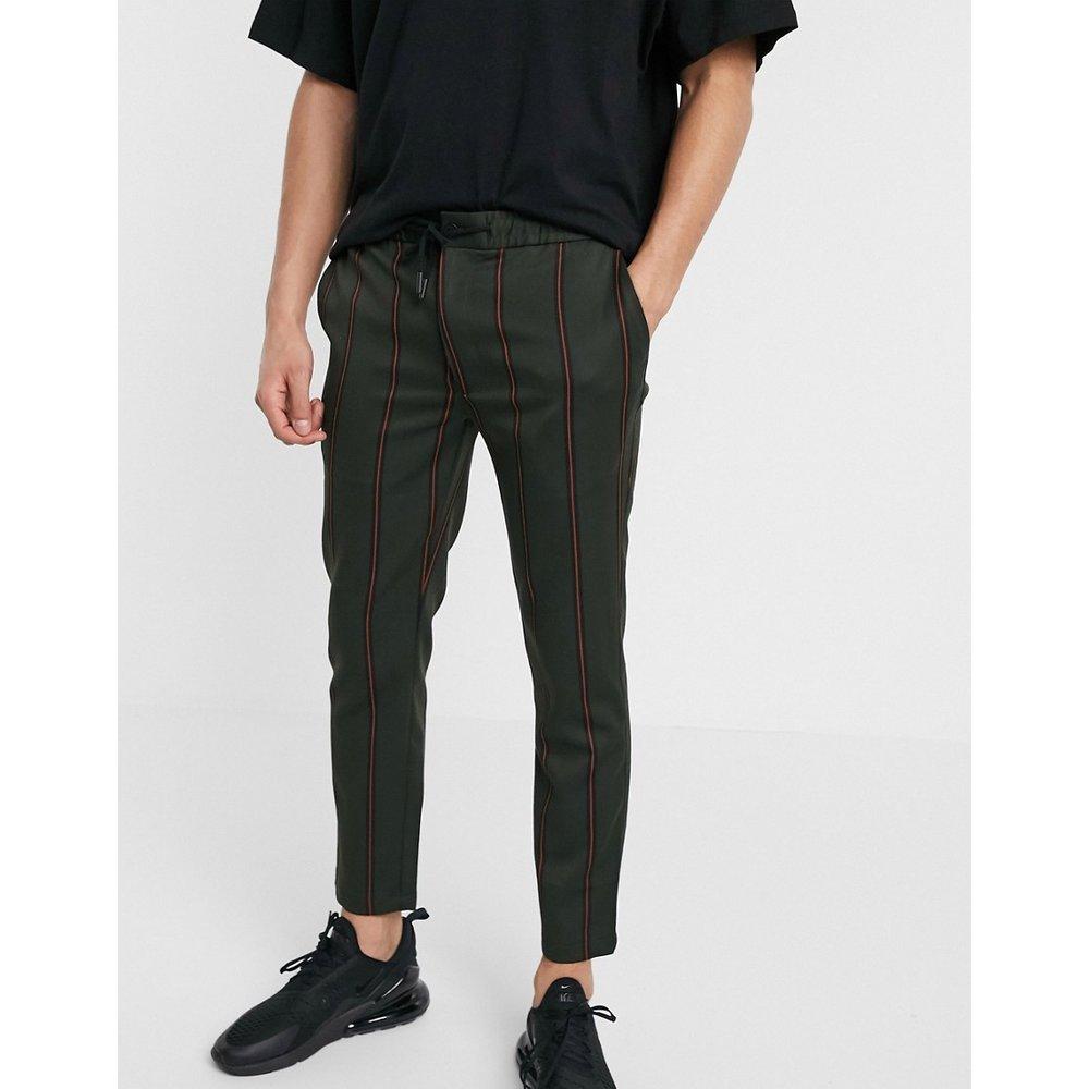 Pantalon casual à rayures - Kaki - Topman - Modalova