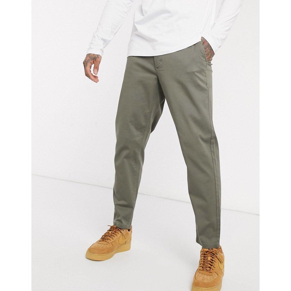 Pantalon chino ajusté - Kaki - Topman - Modalova