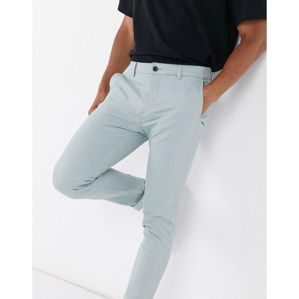 Pantalon chino super ajusté - Sauge - Topman - Modalova
