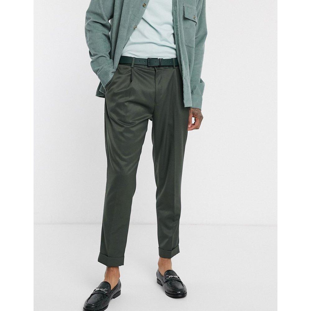 Pantalon habillé plissé coupe skinny - Topman - Modalova