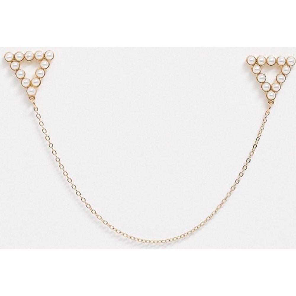 Pointes de col ornées de perles - Topman - Modalova