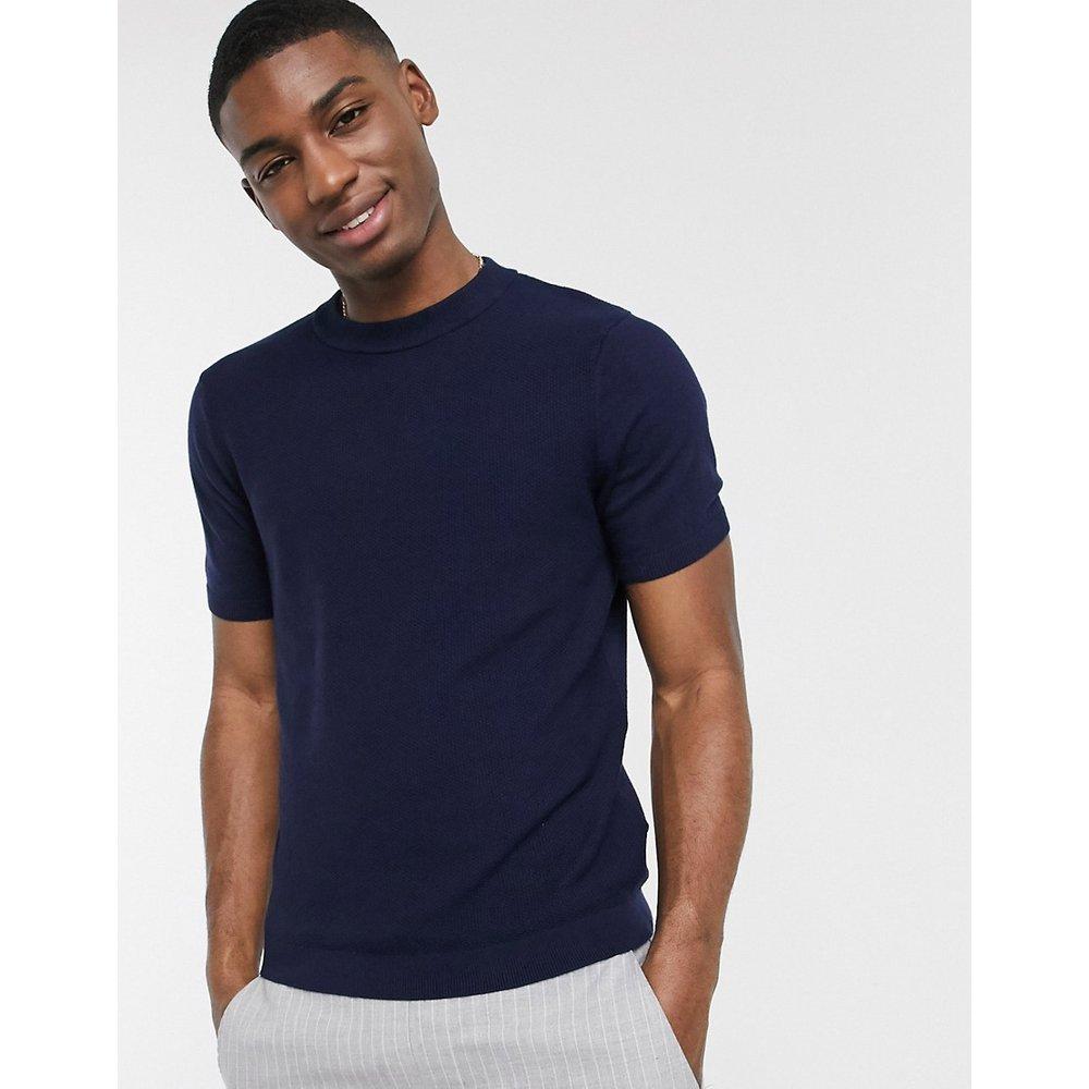 T-shirt en maille - Bleu marine - Topman - Modalova