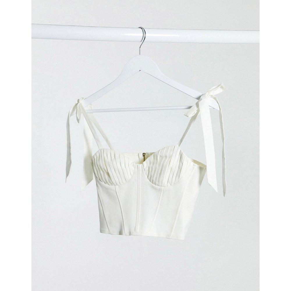 - Crop top à bretelles nouées sur les épaules - Topshop - Modalova