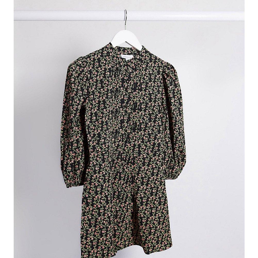 Robe courte à imprimé vintage - Topshop Petite - Modalova