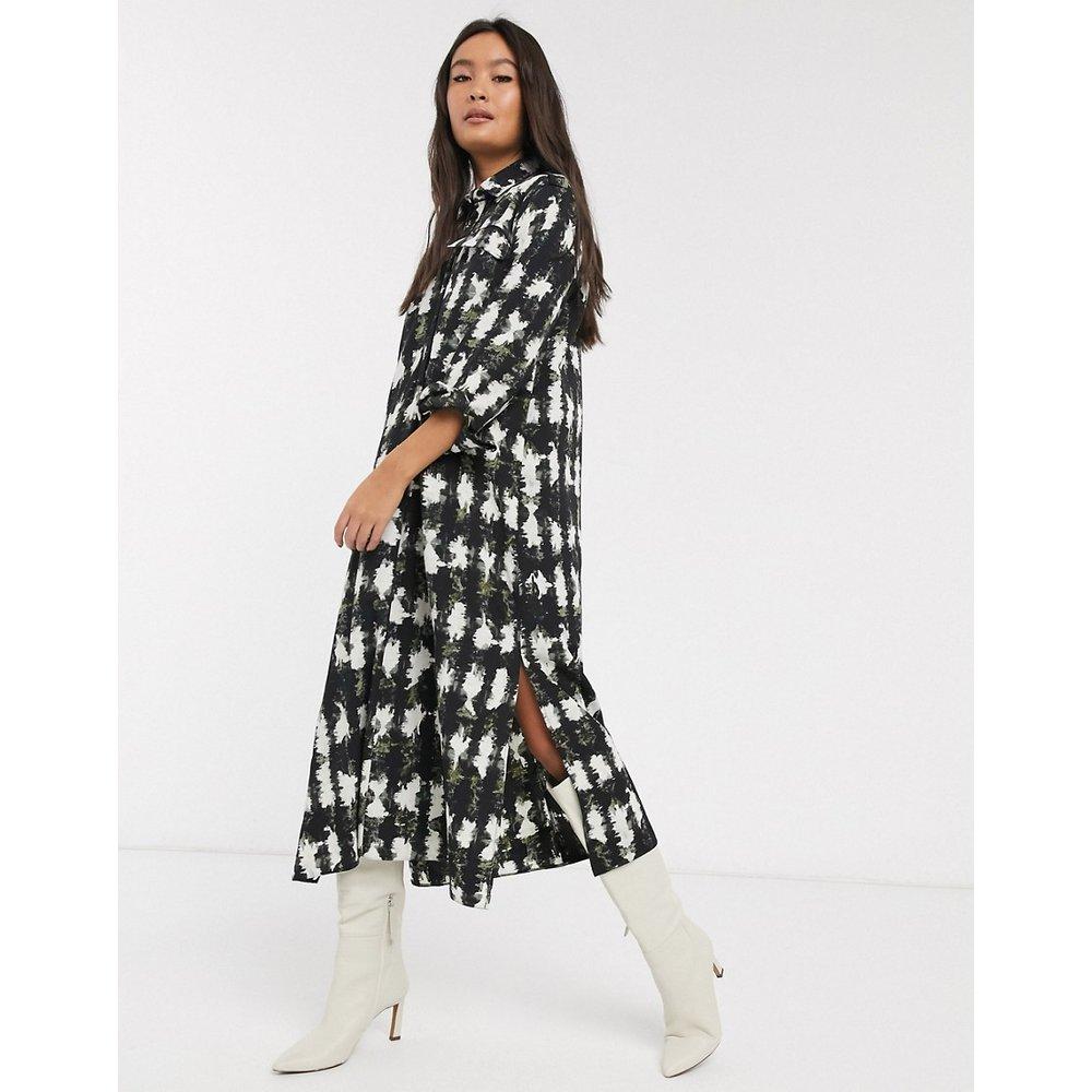 Robe chemise mi-longue imprimée - Topshop - Modalova