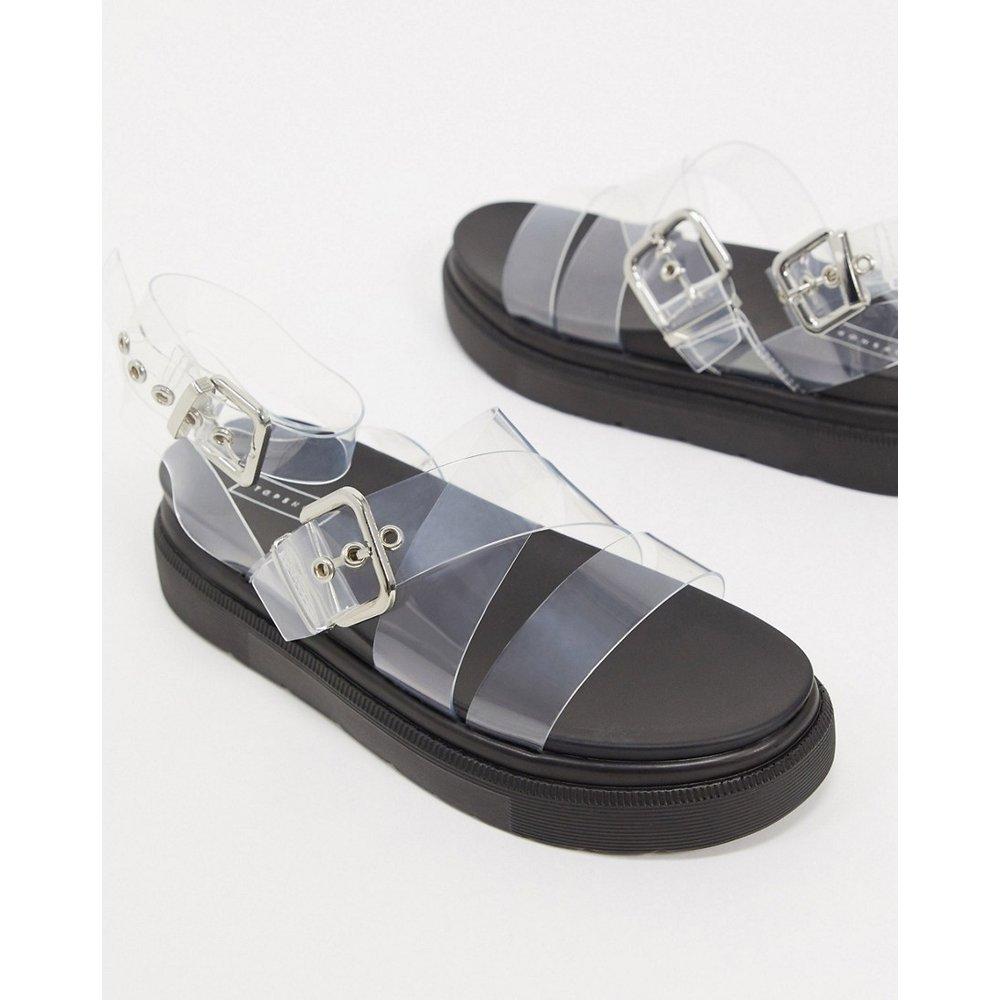 - Sandales transparentes à semelle plateforme avec boucles - Topshop - Modalova