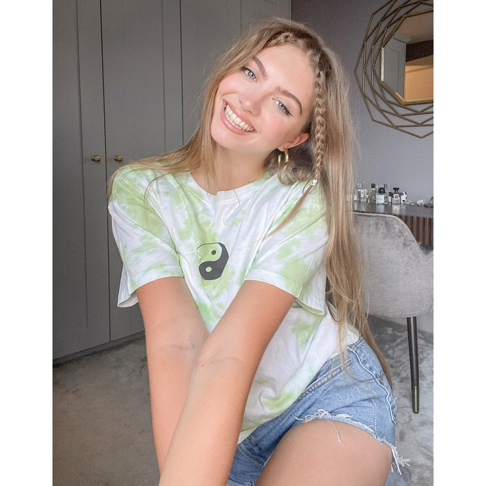 T-shirt à imprimé yin yang effet tie-dye - Topshop - Modalova