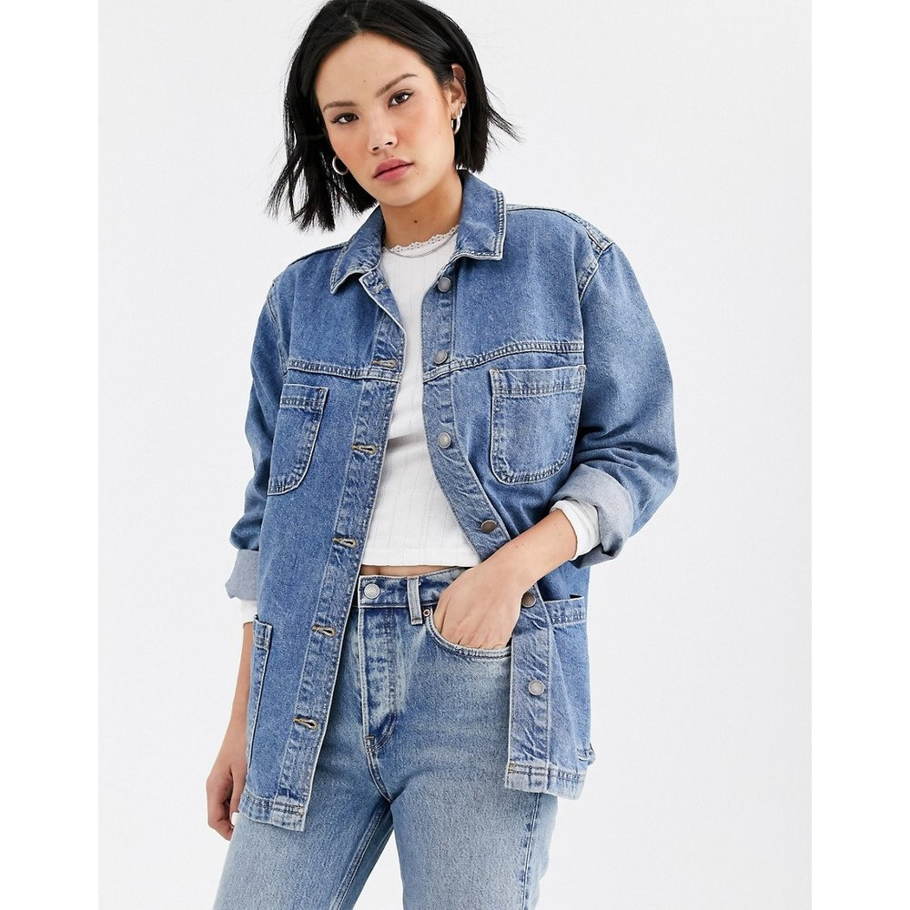 Veste en jean - délavé blanchi - Topshop - Modalova