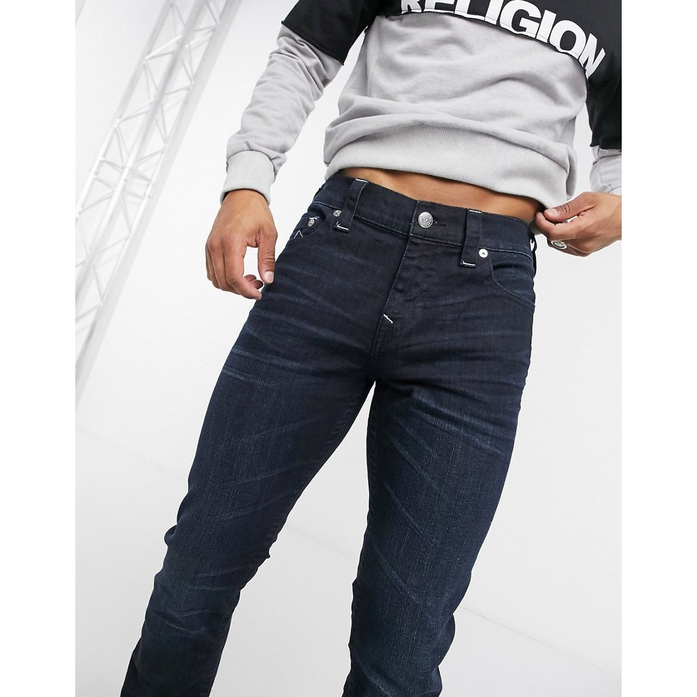 Rocco - Jean skinny imprimé avec poches - Argenté - True Religion - Modalova