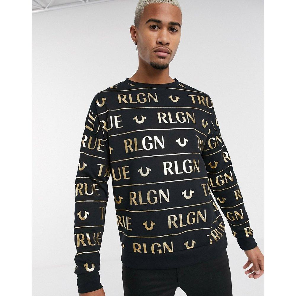 Sweat-shirt à imprimé métallisé sur l'ensemble - True Religion - Modalova