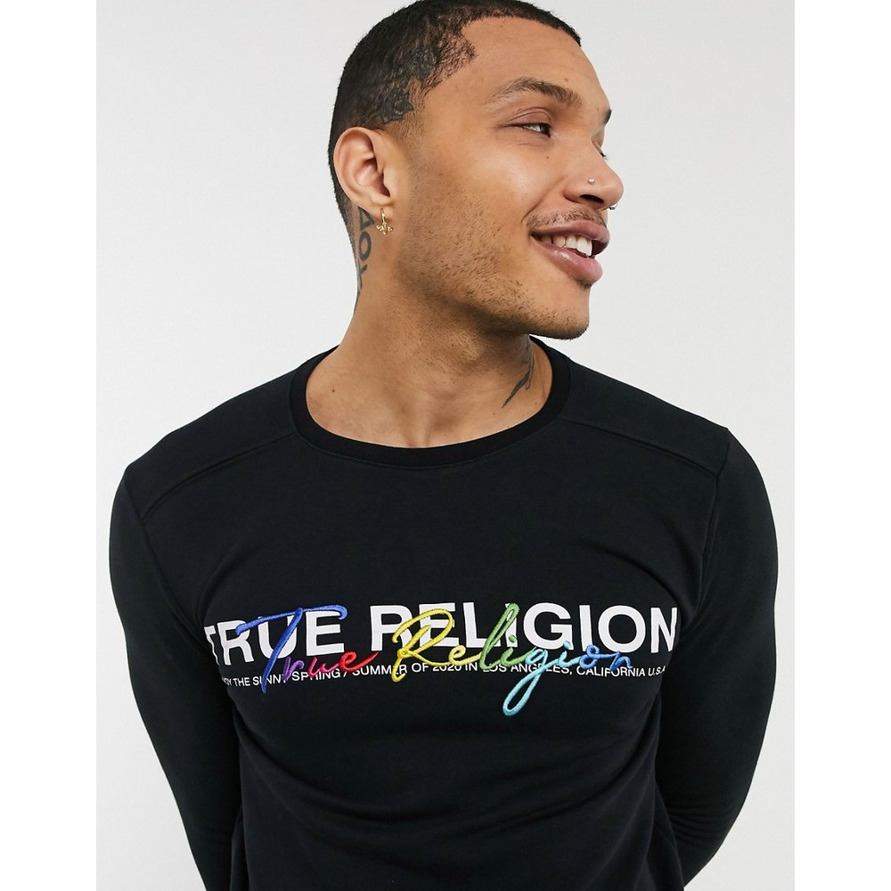 Sweat-shirt avec logo brodé en écriture cursive - True Religion - Modalova