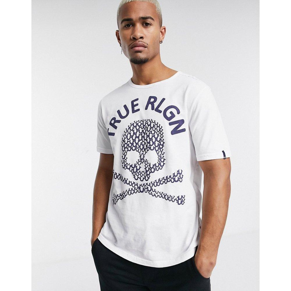 T-shirt avec logo tête de mort texturé - True Religion - Modalova