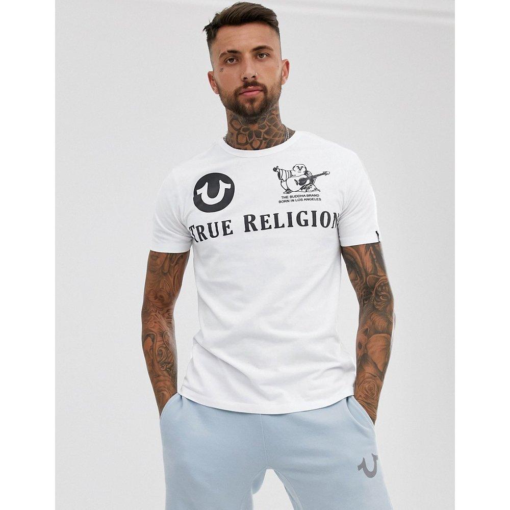 T-shirt ras de cou à logo devant et dos - True Religion - Modalova