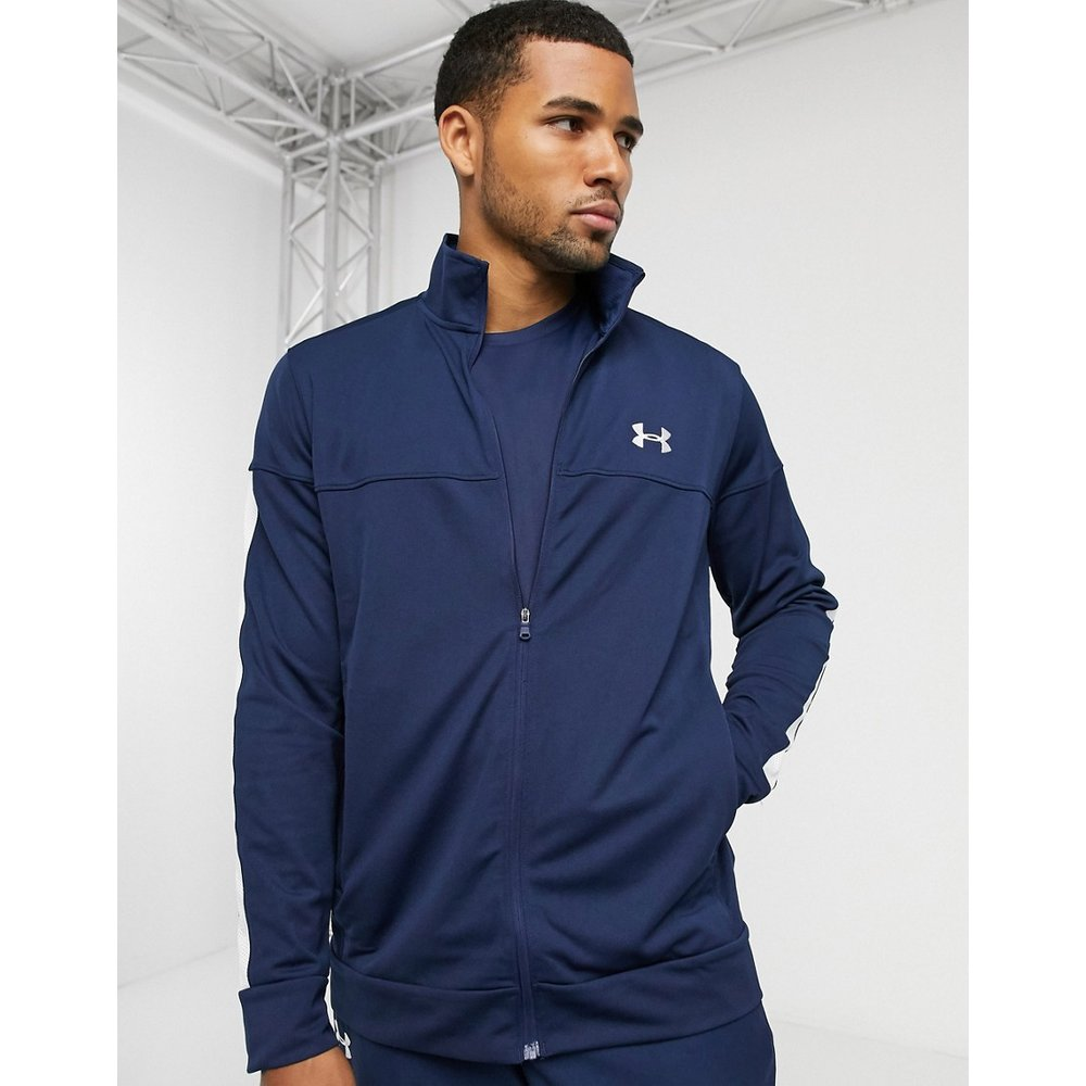 Veste de survêtement style sport en piqué - Bleu marine - Under Armour - Modalova