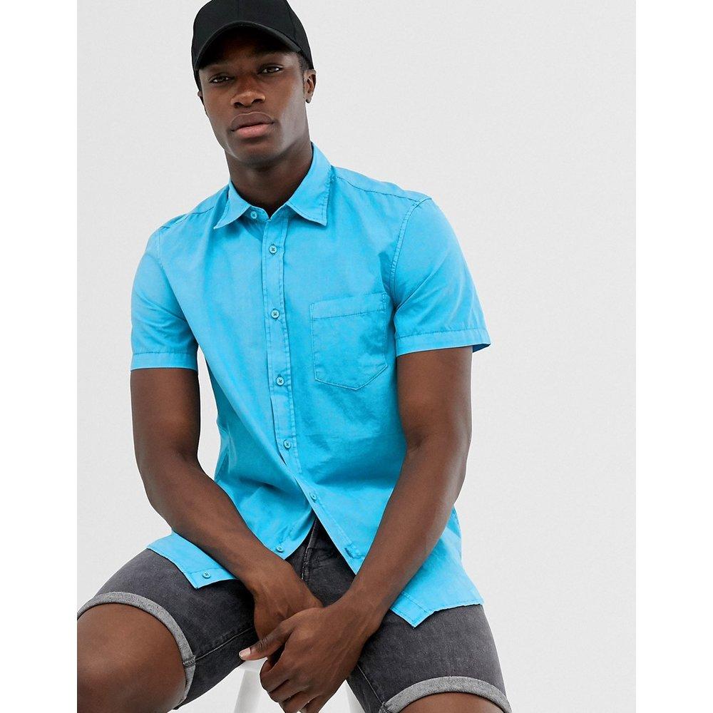 Chemise manches courtes avec poche - United Colors of Benetton - Modalova