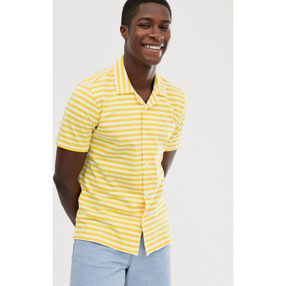 Chemise manches courtes boutonnée en jersey - United Colors of Benetton - Modalova