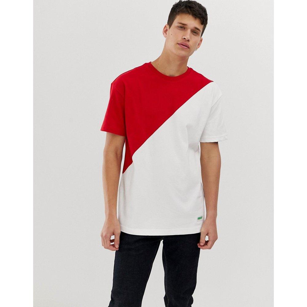 T-shirt long fendu effet coupé-cousu - United Colors of Benetton - Modalova