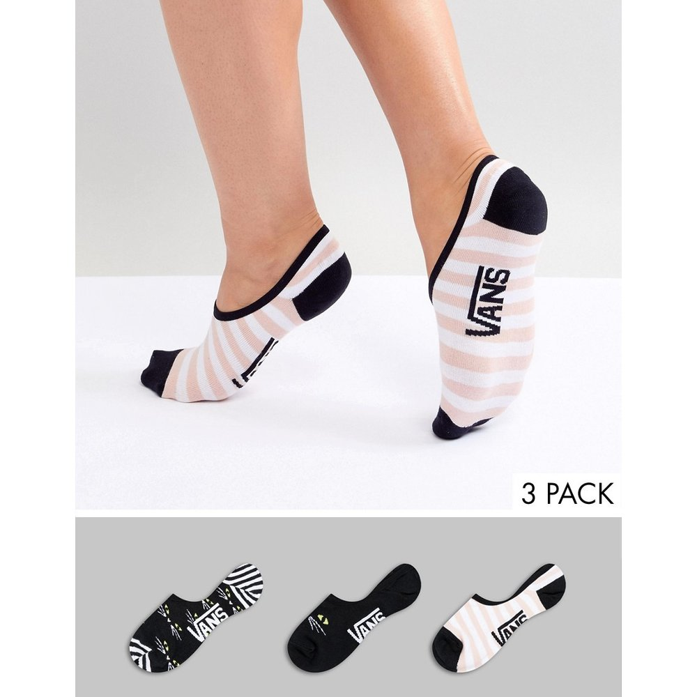 Canoodle - Lot de 3 paires de chaussettes invisibles imprimées - Vans - Modalova