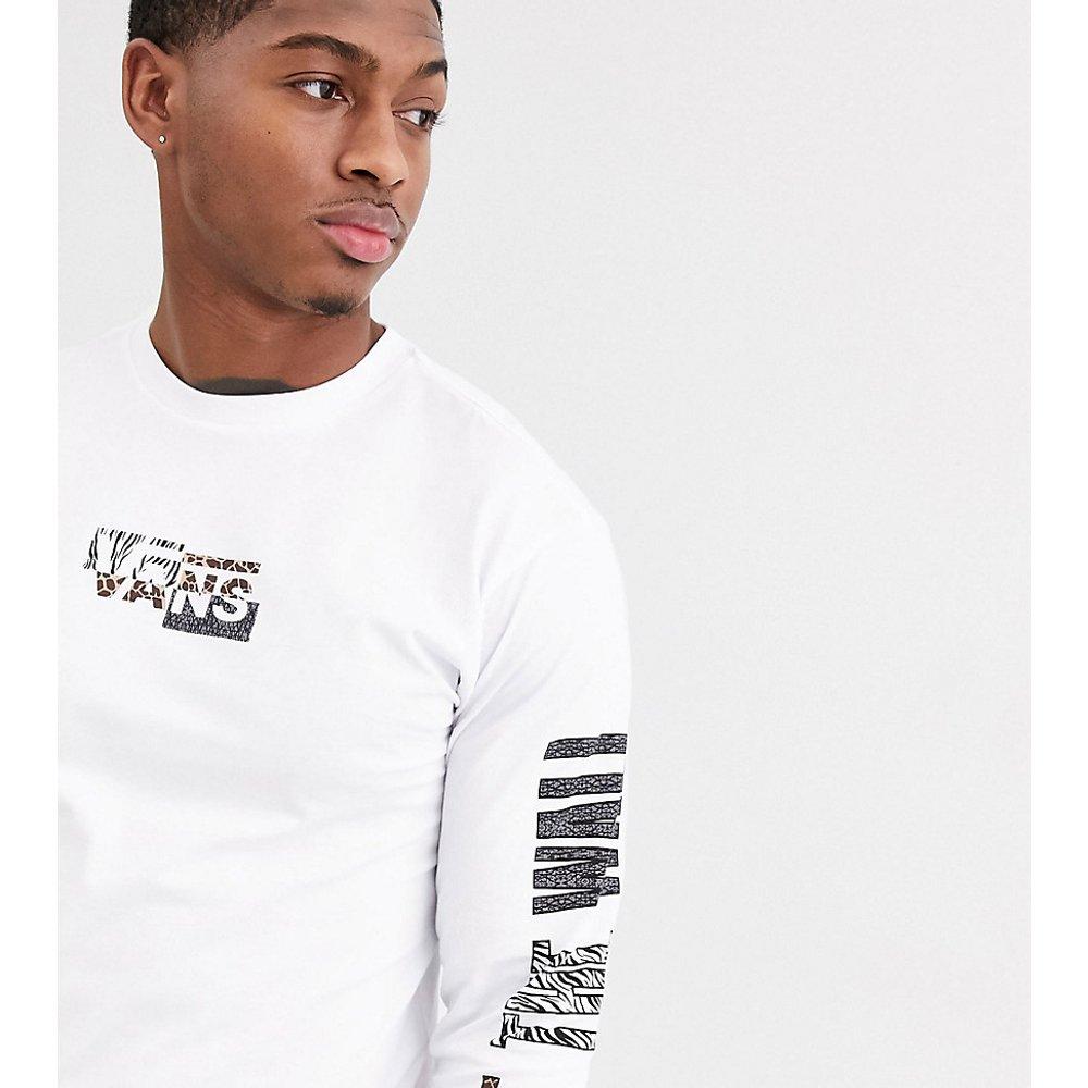 Prey - T-shirt à manches longues et imprimé animal - - Exclusivité ASOS - Vans - Modalova