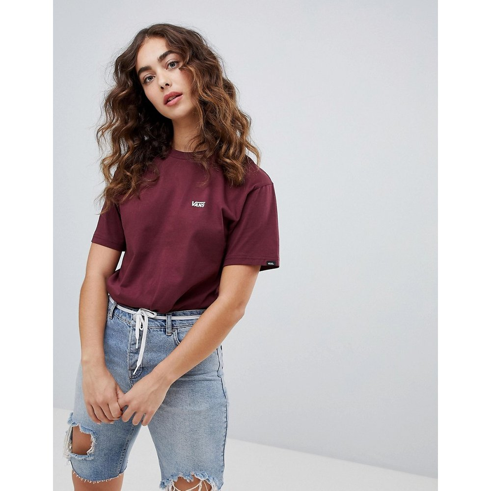 T-shirt à petit logo - Bordeaux - Vans - Modalova