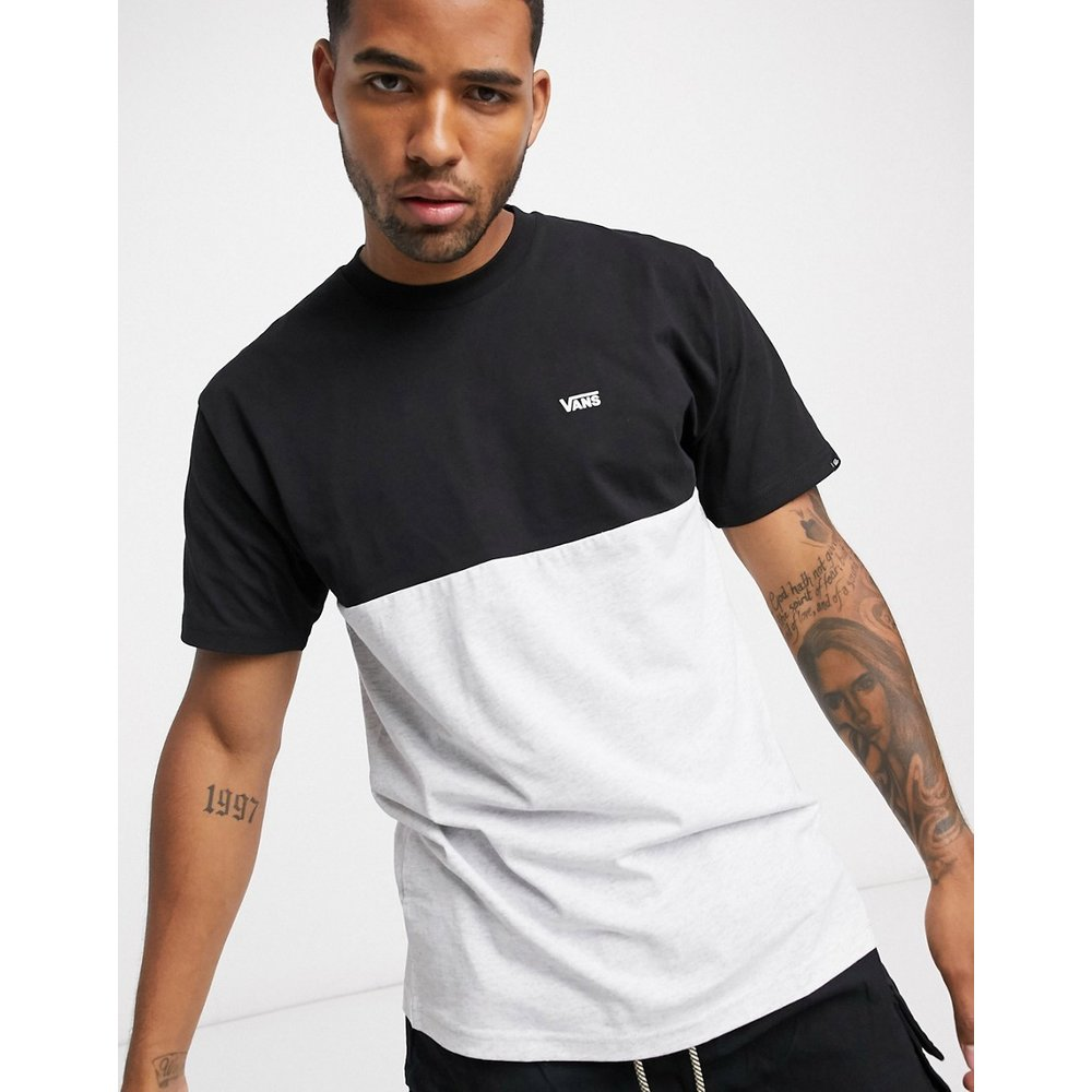 T-shirt color block- /noir - Vans - Modalova