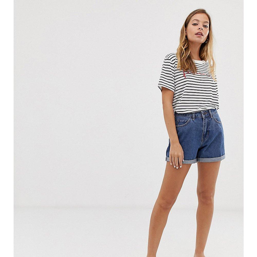 Short mom en jean taille haute - Vero Moda Petite - Modalova