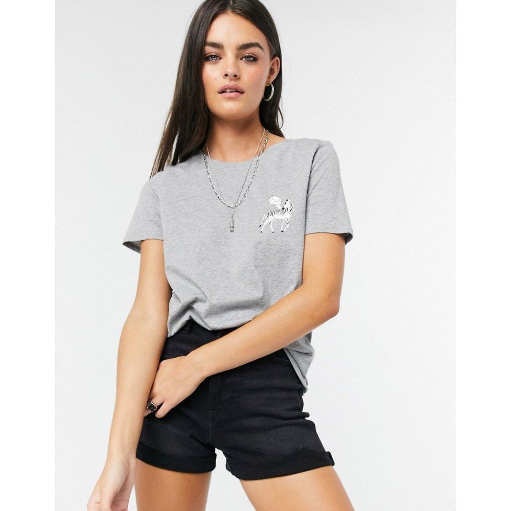 Vero Moda - T-shirt à logo - Gris - Vero Moda - Modalova