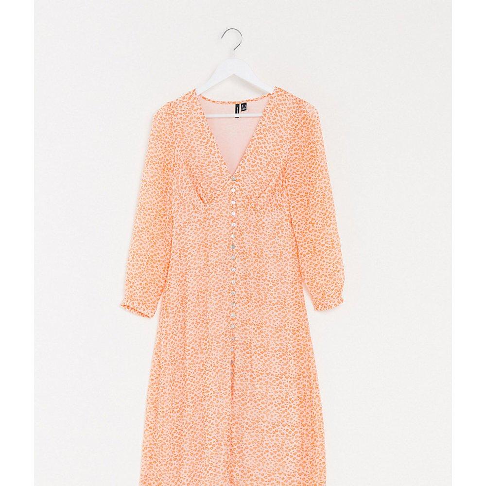 Robe boutonnée à petites fleurs - Orange - Vero Moda Tall - Modalova