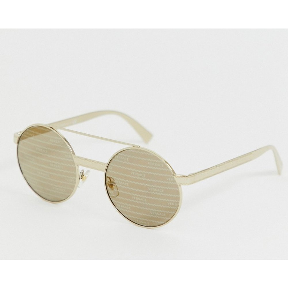 VE2210 - Lunettes de soleil rondes - Versace - Modalova