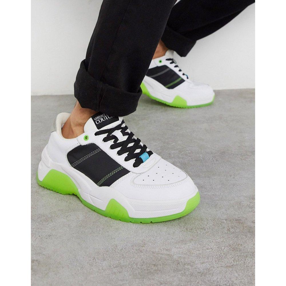 Baskets basses - Noir et citron vert - Versace Jeans Couture - Modalova