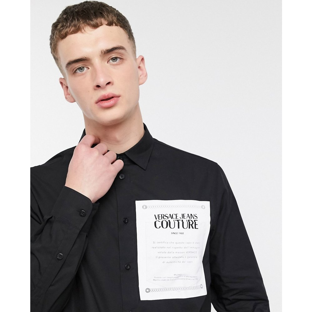 Chemise imprimée avec poche avant - Versace Jeans Couture - Modalova