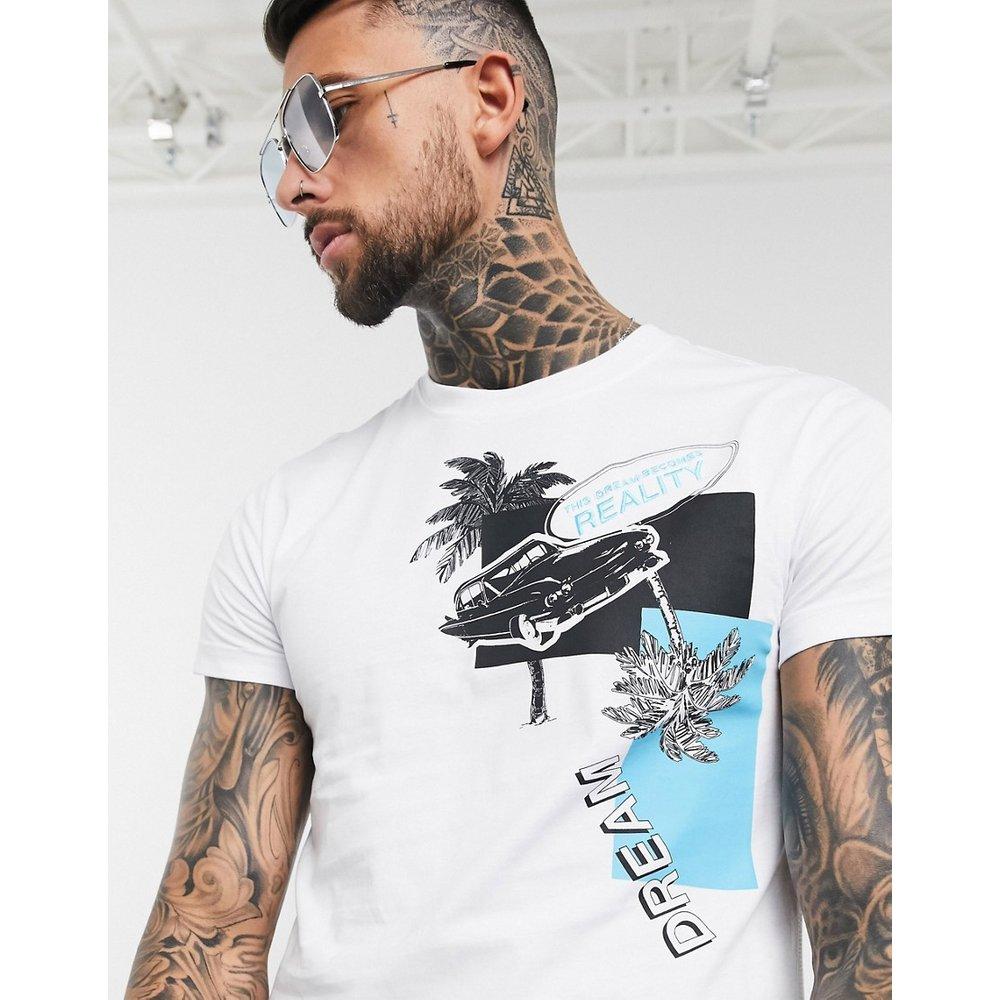 T-shirt à imprimé Miami - Versace Jeans Couture - Modalova