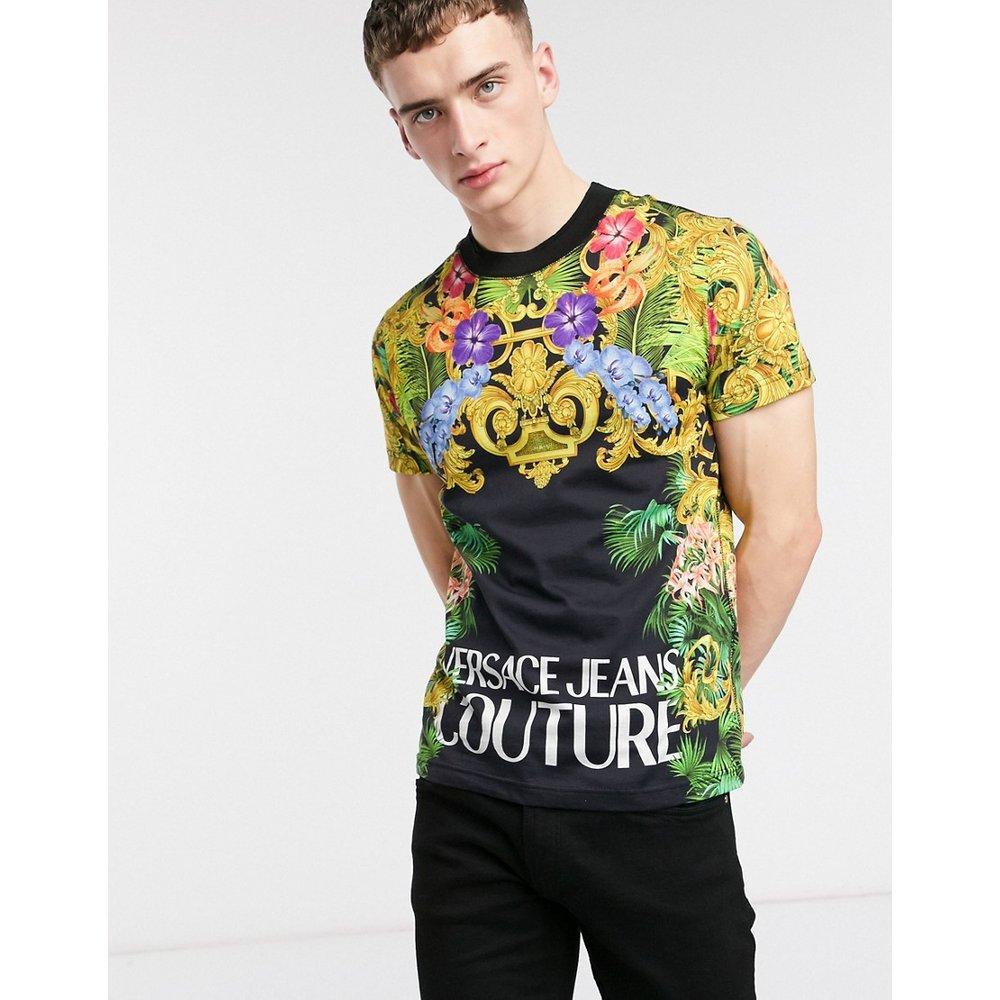 T-shirt à logo avec imprimé jungle - Versace Jeans Couture - Modalova