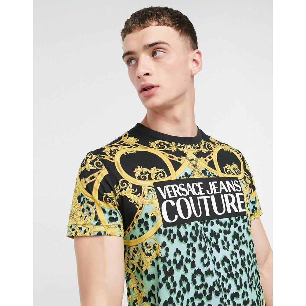 T-shirt motif chaîne imprimé léopard - Versace Jeans Couture - Modalova