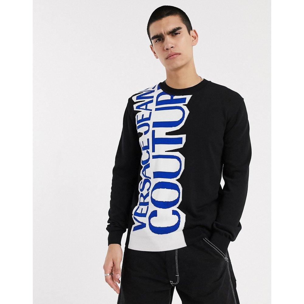 Versace Jeans - Pull à logo vertical - Versace Jeans Couture - Modalova