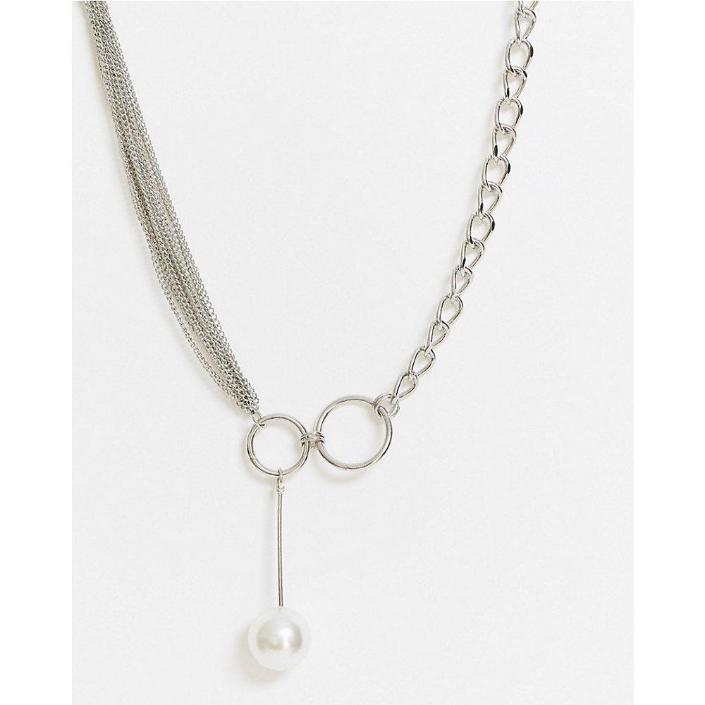 Vibe and Carter - Collier volumineux avec multi-chaînes et pendant en perle - - Exclusivité ASOS - Vibe + Carter - Modalova